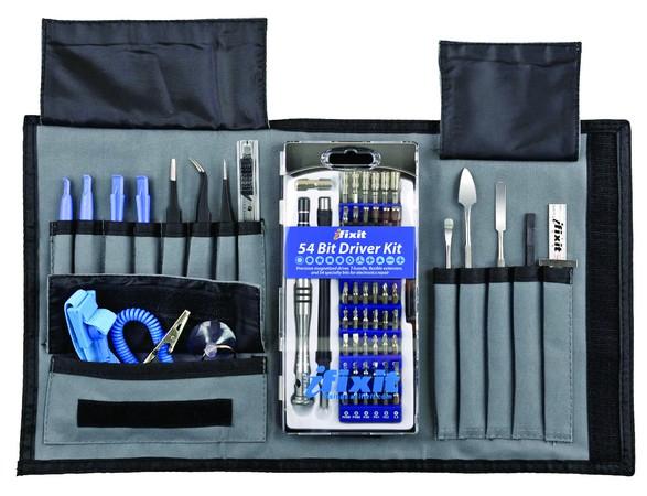 Completo set de herramientas específico para reparación de notebooks; una solución así es ideal si planeamos dedicarnos a esta disciplina.
